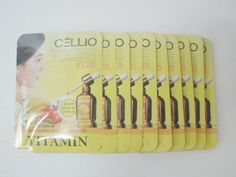 Korean Cosmetics_Cellio Extra Soothing Essential Mask_Vitamin_10 sheets by Cellio. $10.99. Cellio Extra Soothing Essential Mask provides deep moisture and nutrition for women's tired skin.. CAPACITY  Cellio Extra Soothing Essential Mask - 25ml x 10 sheets