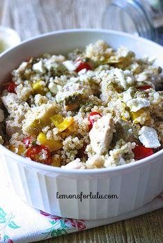 Pesto Ranch Chicken and Quinoa ~ http://www.lemonsforlulu.com