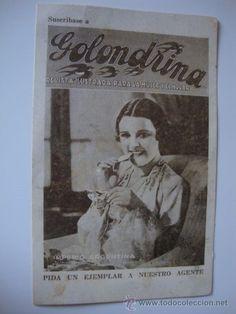 RARA TARJETA FELICITACIÓN NAVIDAD DEL REPARTIDOR DE LA REVISTA GOLONDRINA AÑO 1935 IMPERIO ARGENTINA