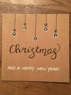 Cute Diy Christmas Cards For Kids 69 Ideas Simple Christmas Cards, Christmas Card Crafts, Homemade Christmas Cards, Xmas Cards, Diy Cards, Homemade Cards, Handmade Christmas, Holiday Cards, Christmas Card Designs