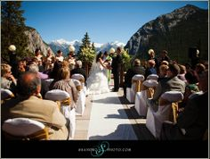 outdoor wedding in banff, I'd be ok with this but smaller ; Something Borrowed, Something Blue, Got Married, Getting Married, Banff, Dream Wedding, Wedding Dreams, Wedding Venues, Dolores Park