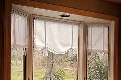 Make Pottery Barn Style No Sew Tie Curtains