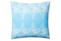 59.00  Monterey 20x20 Cotton Pillow, Lt Blue on OneKingsLane.com