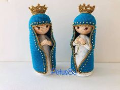 Virgen María a crochet amigurumis por Petus - Virgen amigurumi - Christmas Crochet Patterns, Crochet Amigurumi Free Patterns, Crochet Dolls, Crochet Videos, Crochet Basics, Craft Business, Santa, Embroidery, Knitting