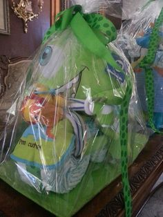 Monsters Inc Diaper cake from Baby J's baby shower!