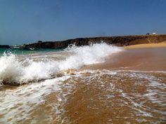 le onde sulla playa del Cotillo