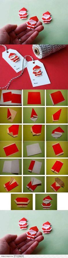 DIY Cute Paper Santa Claus DIY Projects | UsefulDIY.com na Stylowi.pl