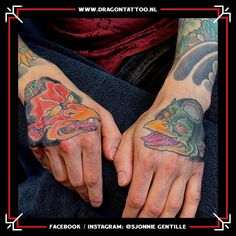 Tengu and kappa Japanese hand tattoo. Designed and Tattooed by: Sjonnie Gentille Dragon Tattoo. Kappa Japanese, Japanese Hand Tattoos, Dad Tattoos, Religious Images, Top Artists, Dragon, Father Tattoos, Dragons