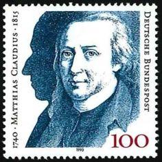 Ein nahezu unbekannter deutscher Dichter und Literat, der eigentlich ziemlich berühmt ist... http://d-b-z.de/web/2015/01/21/matthias-claudius-auf-briefmarken/
