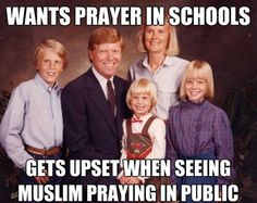 I'm Christian. I don't want memorized Christian prayers in schools! It violates my Christian beliefs. Losing My Religion, Anti Religion, Religion And Politics, Political Beliefs, School Prayer, Athiest, Free Thinker, Thought Provoking, Equality