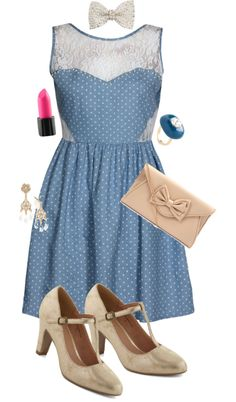 """""""11. To a highschool dance"""" by portrait-of-a-girl ❤ liked on Polyvore"""