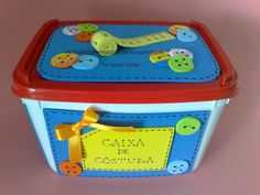 potes de sorvete Fun Crafts, Diy And Crafts, Crafts For Kids, Fabric Envelope, Home Organization, Recycling, Projects To Try, Lunch Box, Crafty