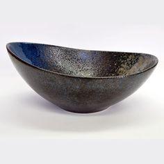 Cobalt Stoneware Oblong Bowl 10