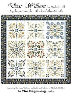 Dear William Morris Quilt Pattern Michele Hill Block of Month