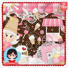 Kit - Ice Cream by Fa Maura [FaMaura_KitIceCream] - $4.00 : FaMaura.com - scrapshop
