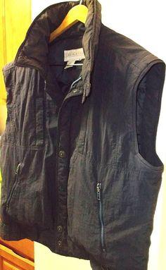 Vintage Obermeyer Down Ski Winter Snow Vest Goose Nylon SZ: XL Navy Blue Puffer  #Obermeyer #Skivest