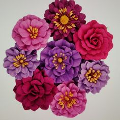 New paper flower mixes in the shop, from pinks & purples to warm mixes filled with oranges & yellows.