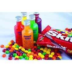 Skittles Vodka 5 bottles of Vodka 1 bag of... | Tipsy Bartender