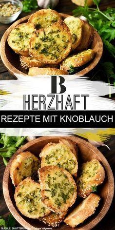 Knoblauch Rezepte. Knoblauch ist einfach ein Küchenallrounder. Wir zeigen dir die besten Rezepte mit der herzhaften Knolle. Vom Klassiker Knoblauchbrot bis Pasta ist alles mit dabei. #knoblauch #knoblauchbrot #rezepte #brot Garlic Recipes, Salmon Recipes, Sauce Recipes, Pasta Recipes, Vegetarian Recipes Dinner, Brunch Recipes, Dinner Recipes, Healthy Recipes, Recipe Fr