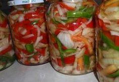 Barevný paprikový salát s cibulí - sterilovaný Marmalade, Fresh Rolls, Preserves, Sushi, Salads, Frozen, Food And Drink, Veggies, Pesto