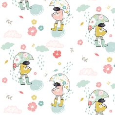 """5.25"""" Floral Showers fabric by shopcabin on Spoonflower - custom fabric"""