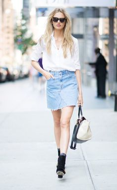 Romee Strijd from Street Style at New York Fashion Week Spring 2017  The model…