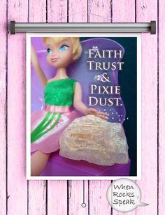Fairy Dust Halite Rock Art Kids Room Crystals by WhenRocksSpeak