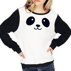 Smiley Panda Black and White Jumper $30.24This simple, cute and cosy jumper is made even more lovely by the smiling panda face on the front! It is black and white so it will go with any color, and is made of a soft cotton material. We now know why the panda is smiling; we hope …