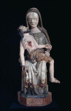Pietà, German (Upper Rhine or Swabia), Medieval (Gothic), about 1375–90, Unidentified artist | Museum of Fine Arts, Boston