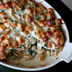 Mom's Baked Chicken & Spinach Pasta. The perfect pre-marathon meal (or any other time).