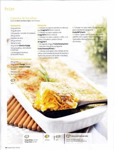 Revista bimby 2011.10 n11 I Companion, Happy Foods, Pasta Recipes, Food To Make, Food And Drink, Arm, Low Carb, Soup, Bread