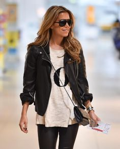 Sylvie Meis at the Cologne airport on the way to Hamburg