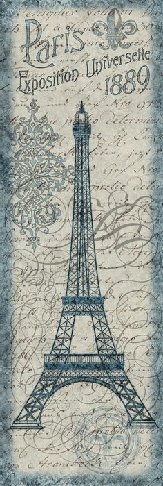 vintag, decoupag, eiffel tower, tour eiffel, towers