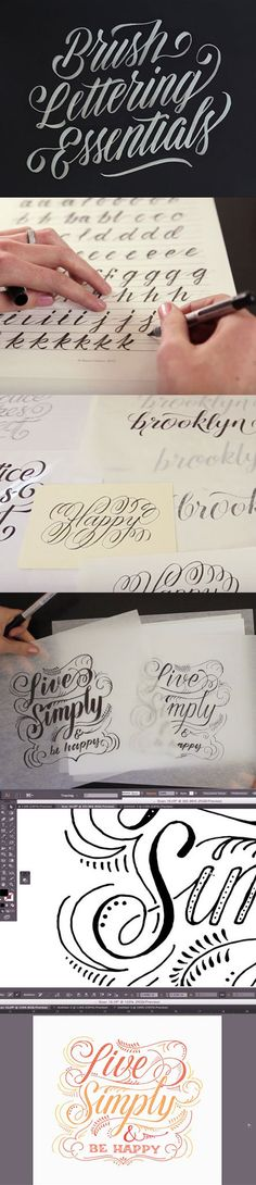 Brush Lettering Essentials #lettering #handlettering #photoshop