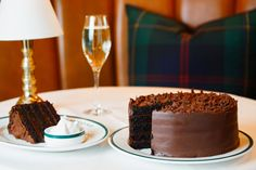 The Old Fashioned Five-Layer Chocolate Cake, dark and handsomely iced, is one of the all-American indulgences on the dessert menu at the new Polo Bar restaurant in Manhattan, and it can be yours to slice at home. | 15 Chocolate Gifts for Valentine's Day (Photo: Pablo Enriquez for The New York Times)