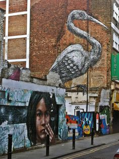 Street Art near Brick Lane, East London, and where I would walk to work everyday!