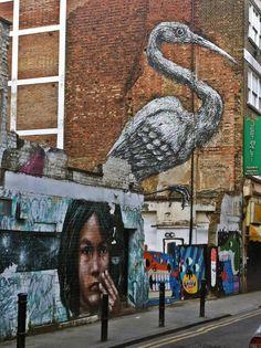 Street Art near Brick Lane, East London, and where I would walk to work everyday!