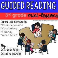 This pack is full of ideas to help you plan for your guided reading mini-lessons for 3rd grade. These lessons are perfect for your small group, but many can be used in whole group!  This goes great with the Common Core State Standards and goes with ANY book (informational and narrative).