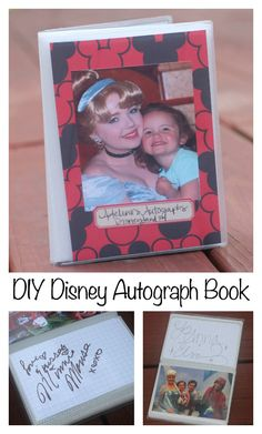 DIY Disney Autograph Book featuring #ProjectLife grid cards. Super easy to make and costs about $3. #disney #disneyland #disneyworld