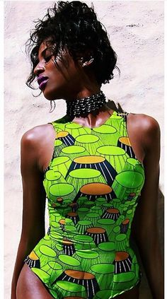 African Fashion swimwear - Its African inspired.