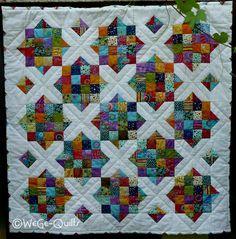 """FLUTHILFE """"PATCHWORKDECKE"""" von WeGe-Quilts auf DaWanda.com"""