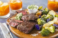 Flat Iron Steaks and Salsa Verde made easy. Discover Goodfood's Flat Iron Steaks and Salsa Verde meal kit delivery featuring farm-fresh ingredients. Salsa Verde, Flat Iron Steak, Calories, Make It Simple, Roast, Potatoes, Beef, Meals, Fresh