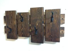 Rustic Coat Rack, Wall Coat Rack, Entryway Coat Hooks, Towel Rack, Rustic Wall…