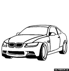 Free Cars Coloring Pages Color In This Picture Of A BMW And Others With Our Library Online