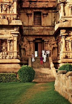 Most Westerners visit South India between November and March, when temperatures are moderate and hopping from temple to temple (like the eleventh-century Brihadeeswarar Temple in the city of Thanjavur, pictured here) is not an ordeal.
