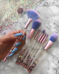 Aquarium Brushes Soft + cruelty-free! Add magic to your makeup routine: limecrime.com. Pic: @amadea_dashurie.