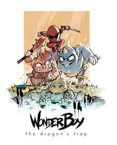 Wonder Boy The Dragons Trap Art Boys Anime Monsters Manga
