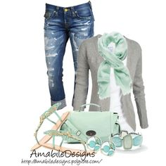 """Mint Spring"" by amabiledesigns on Polyvore"