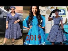LATEST #LESOTHO SESHOESHOE DRESSES 2019 FOR WOMEN: TRENDIEST & SUPER STY... Latest African Fashion Dresses, African Print Fashion, African Attire, African Dress, Seshoeshoe Designs, Seshweshwe Dresses, South African Traditional Dresses, Dress Patterns, Kubota