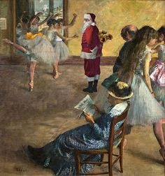 Edgar Degas- Haha, I love the lady just sitting there with a newspaper! Edgar Degas- Haha, I love th Edgar Degas, Degas Ballerina, Manet, Renoir, Ballerine Degas, Degas Dancers, Ballet Dancers, Degas Paintings, Portrait Paintings
